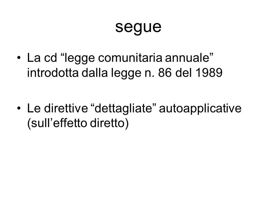 segue La cd legge comunitaria annuale introdotta dalla legge n.