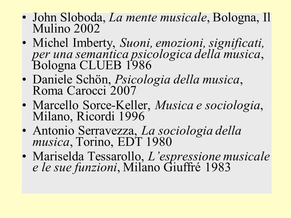 John Sloboda, La mente musicale, Bologna, Il Mulino 2002