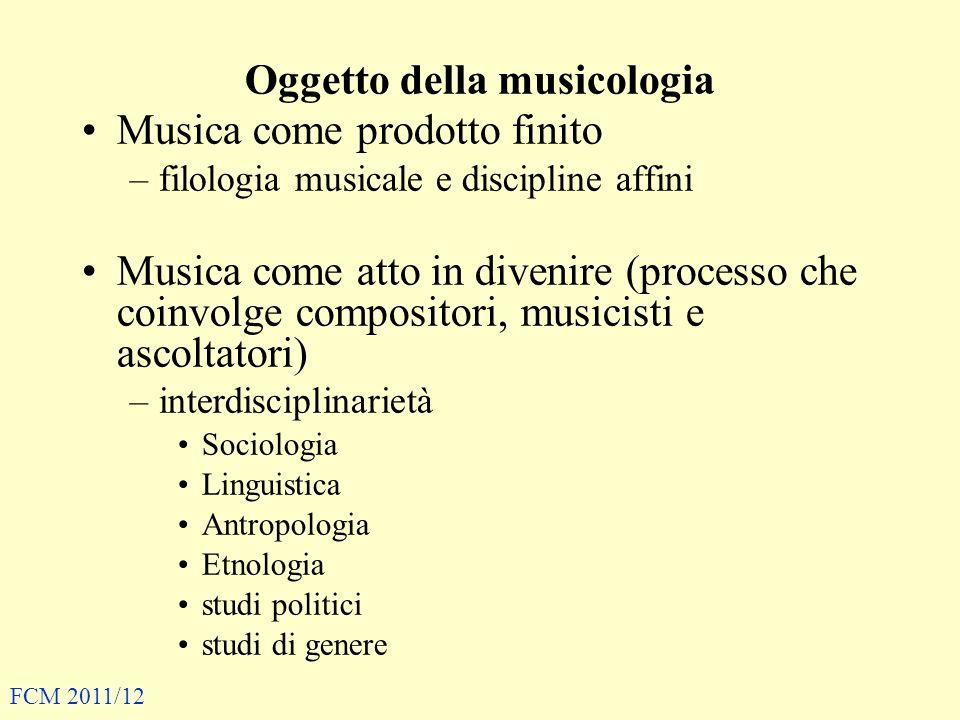 Oggetto della musicologia