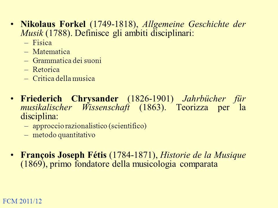 Nikolaus Forkel (1749-1818), Allgemeine Geschichte der Musik (1788)