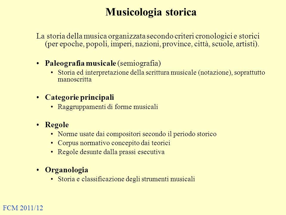 Musicologia storica