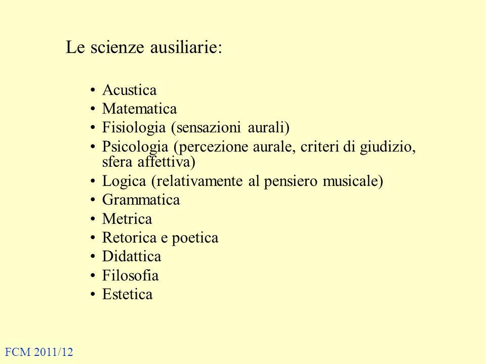 Le scienze ausiliarie: