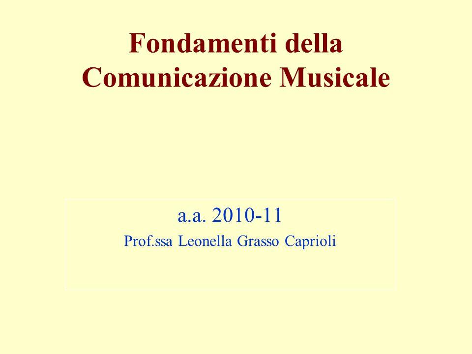 Fondamenti della Comunicazione Musicale