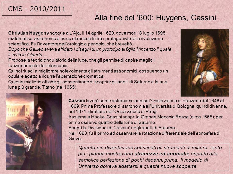 Alla fine del '600: Huygens, Cassini
