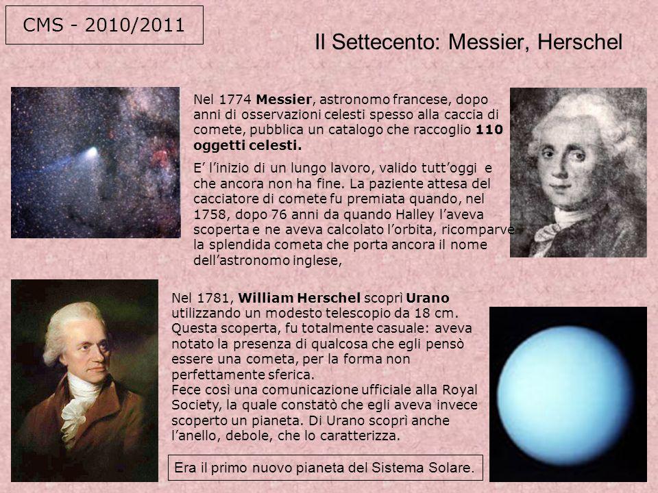 Il Settecento: Messier, Herschel