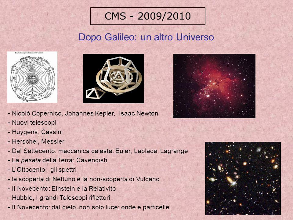 Dopo Galileo: un altro Universo