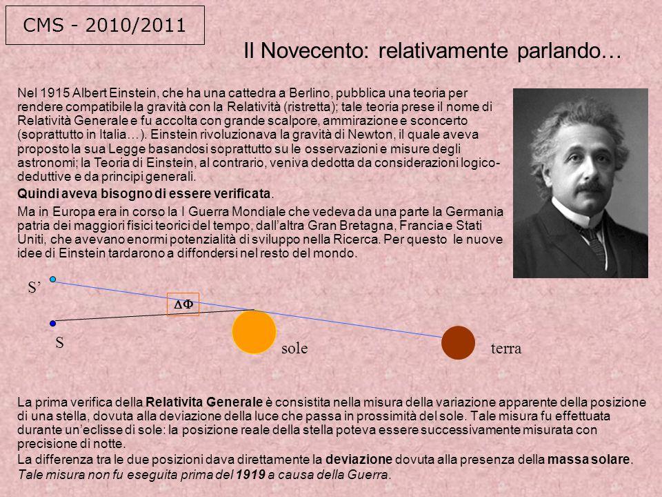 Il Novecento: relativamente parlando…