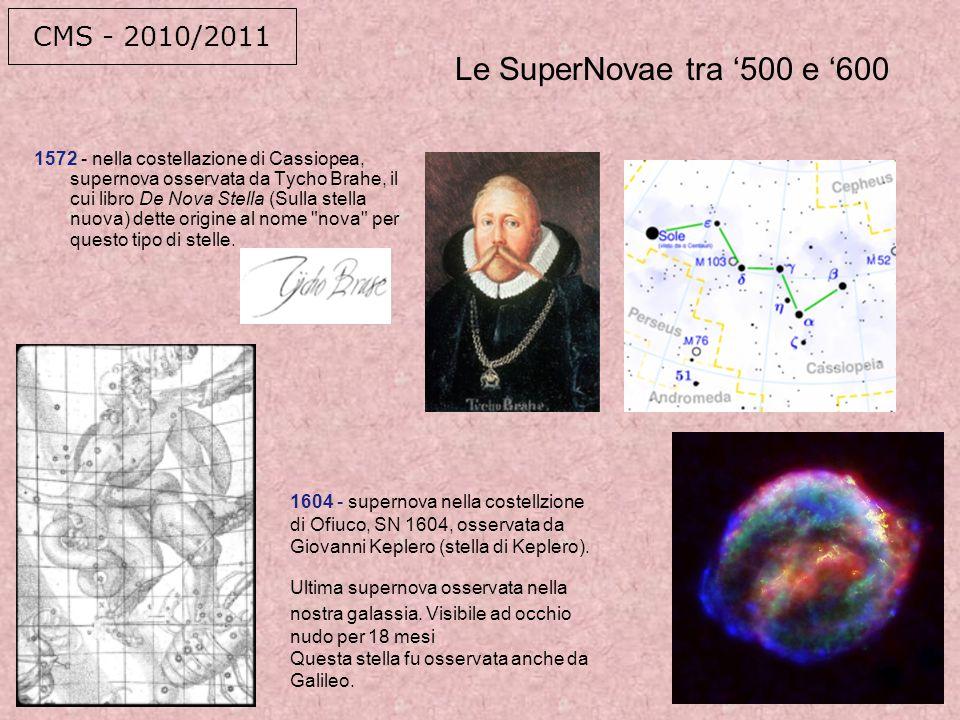 Le SuperNovae tra '500 e '600 CMS - 2010/2011