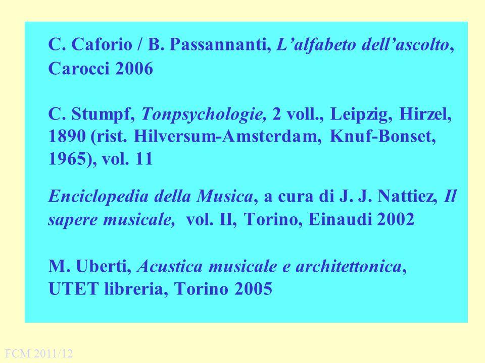 C. Caforio / B. Passannanti, L'alfabeto dell'ascolto, Carocci 2006
