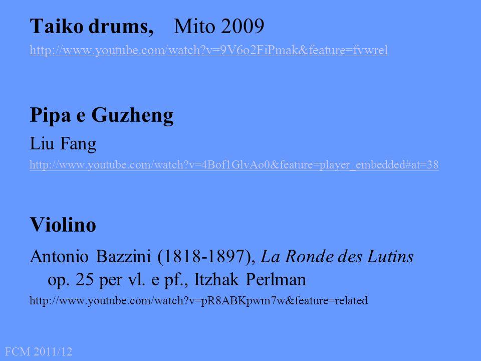 Taiko drums, Mito 2009 Pipa e Guzheng Violino Liu Fang
