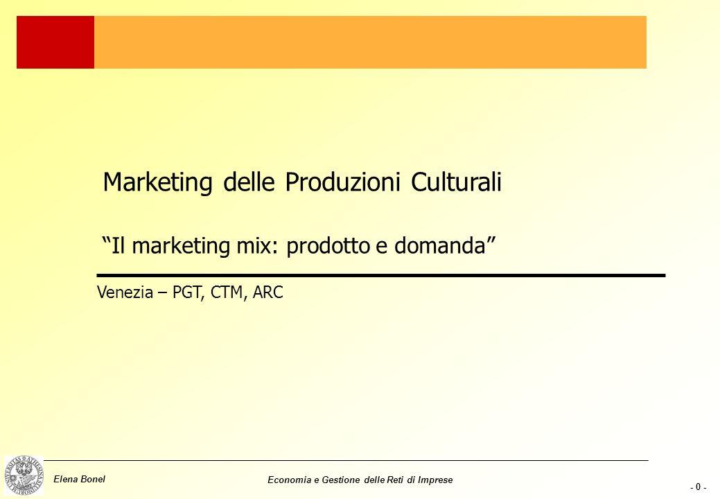 Marketing delle Produzioni Culturali