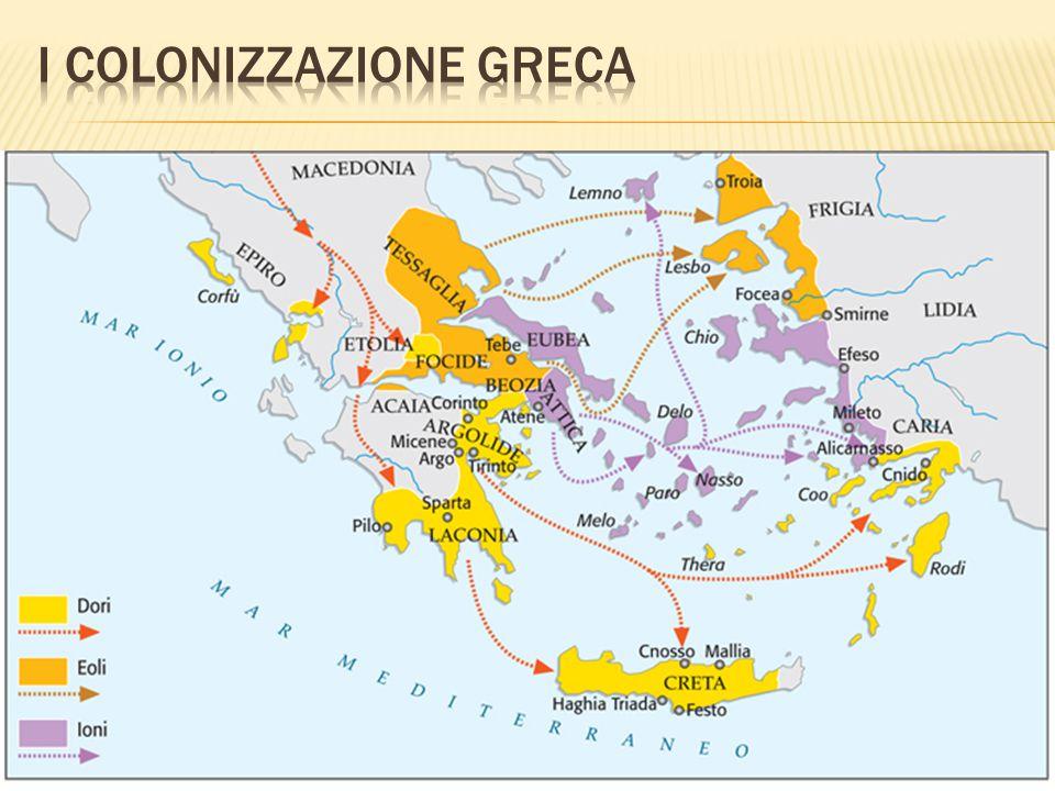 I colonizzazione greca