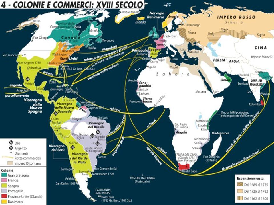 I due grandi imperi coloniali del 16° sec