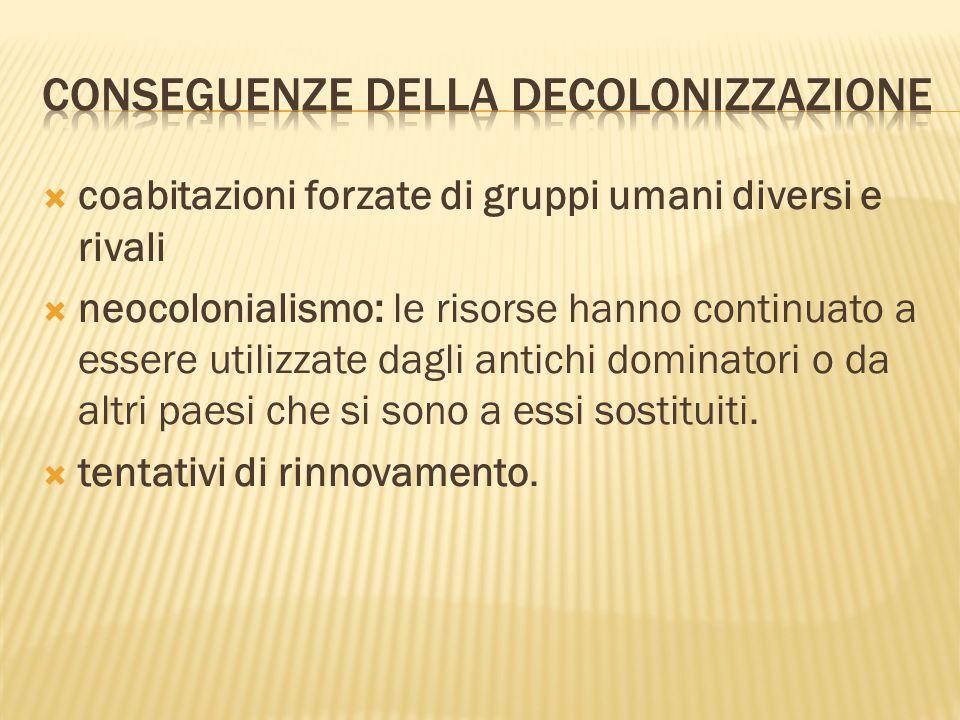 Conseguenze della decolonizzazione
