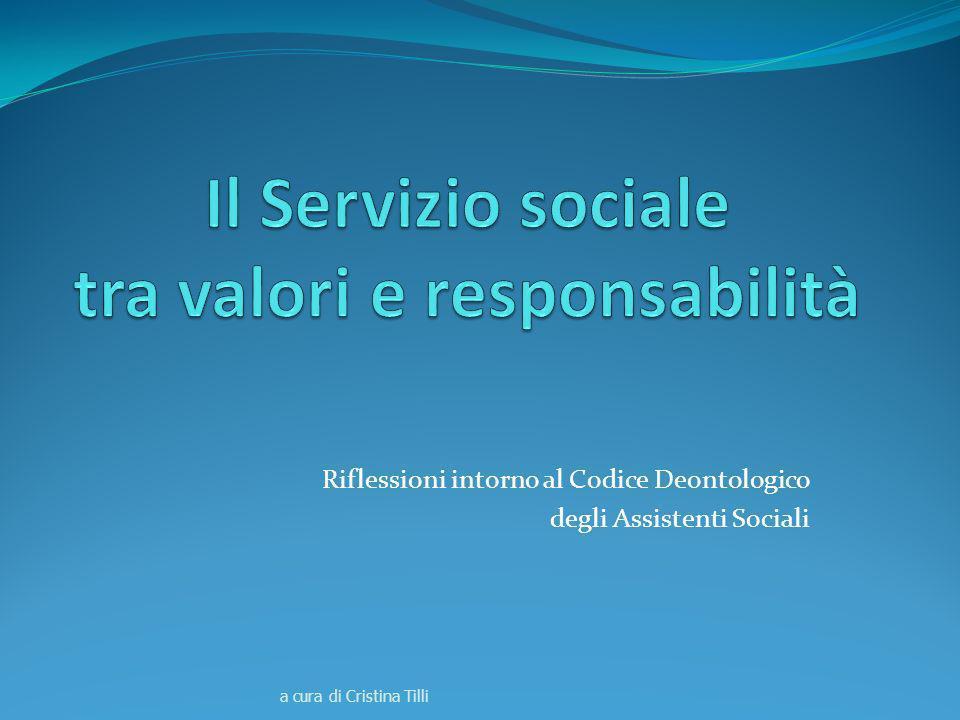 Il Servizio sociale tra valori e responsabilità