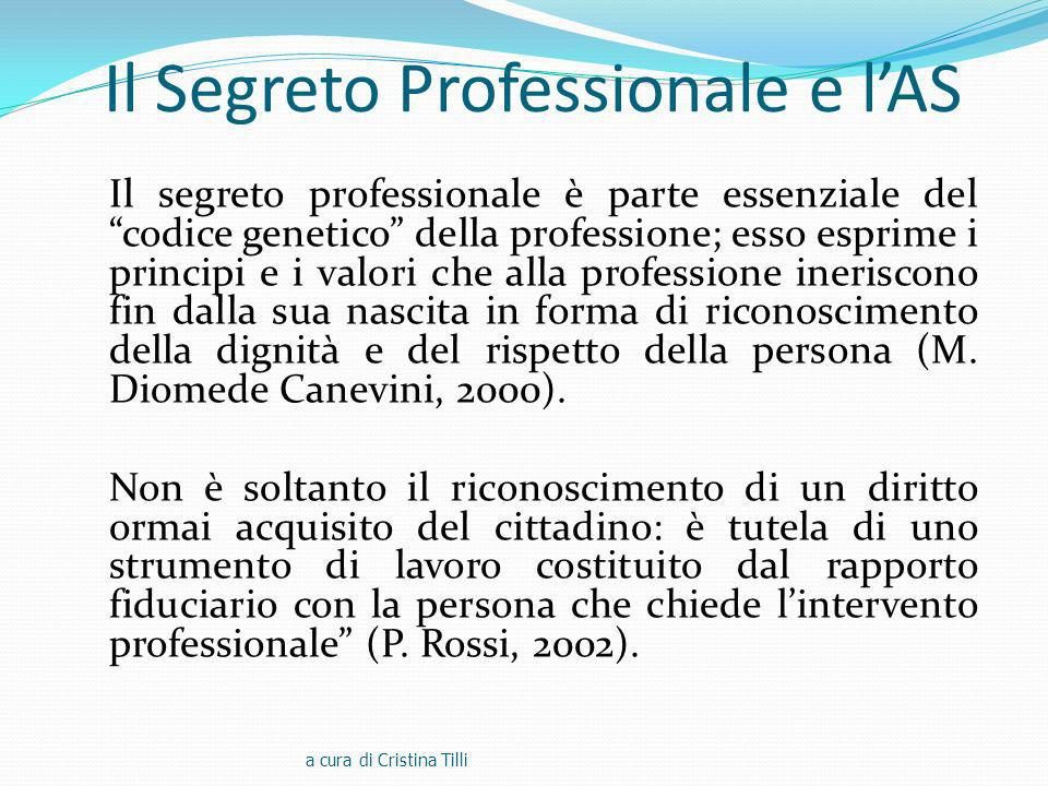 Il Segreto Professionale e l'AS