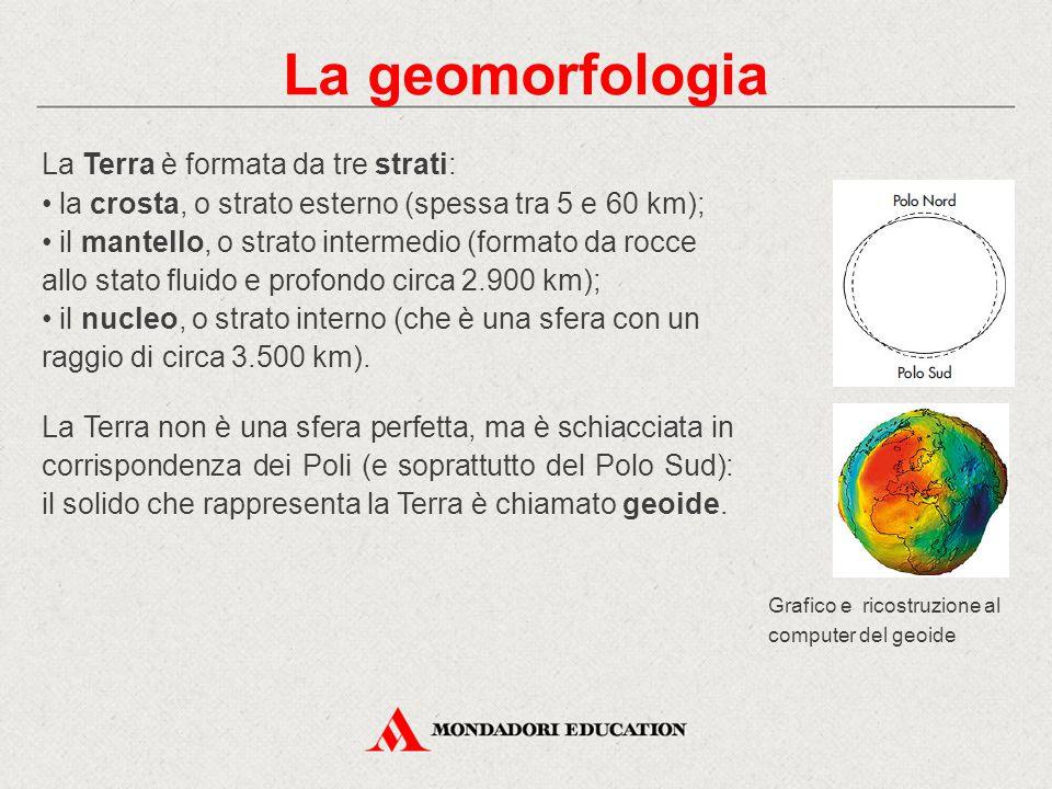 La geomorfologia La Terra è formata da tre strati: