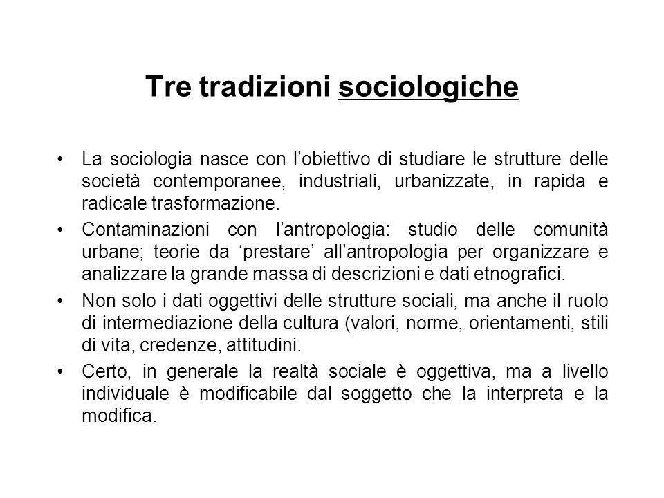 Tre tradizioni sociologiche