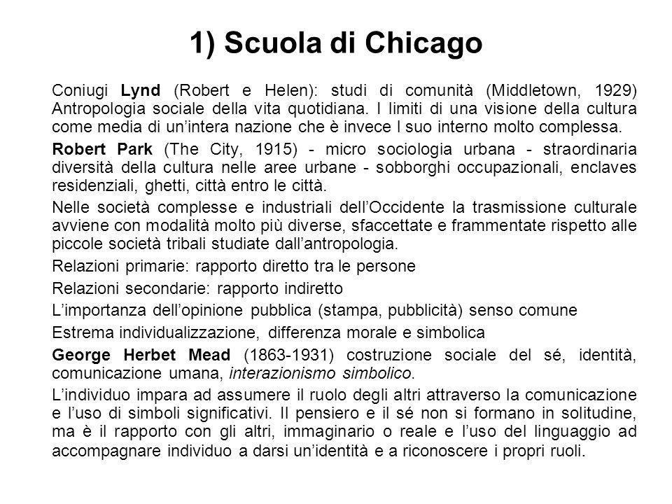 1) Scuola di Chicago