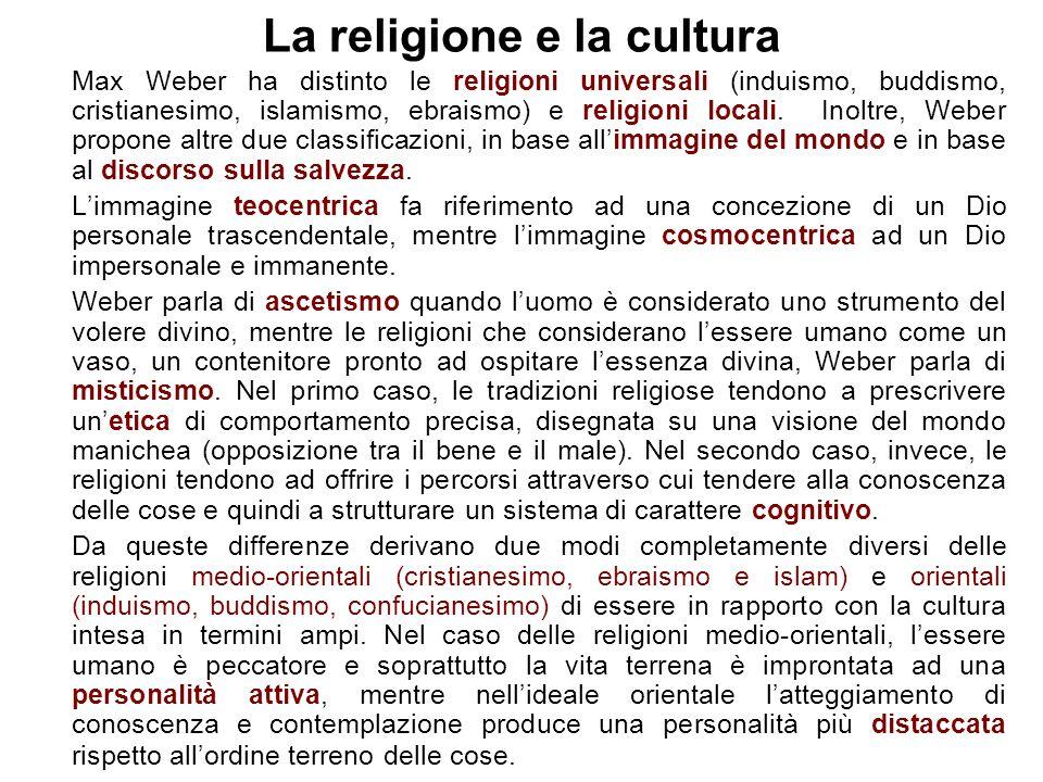 La religione e la cultura
