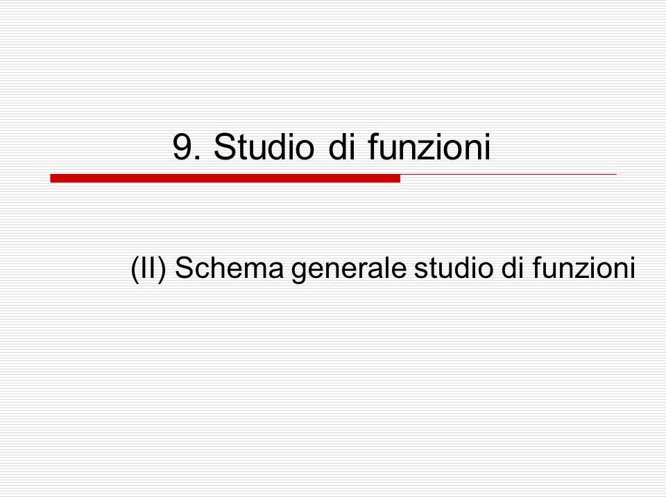 (II) Schema generale studio di funzioni