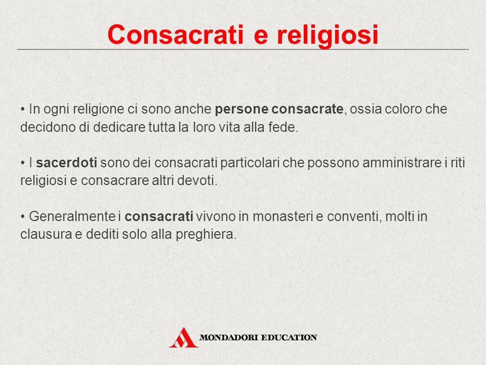 Consacrati e religiosi