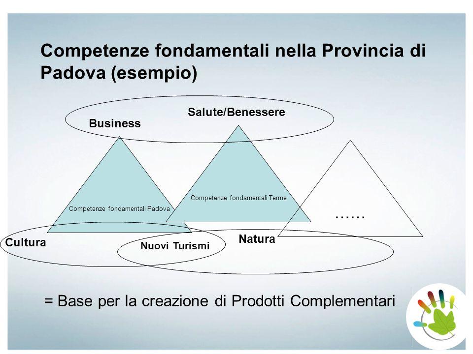 Competenze fondamentali nella Provincia di Padova (esempio)