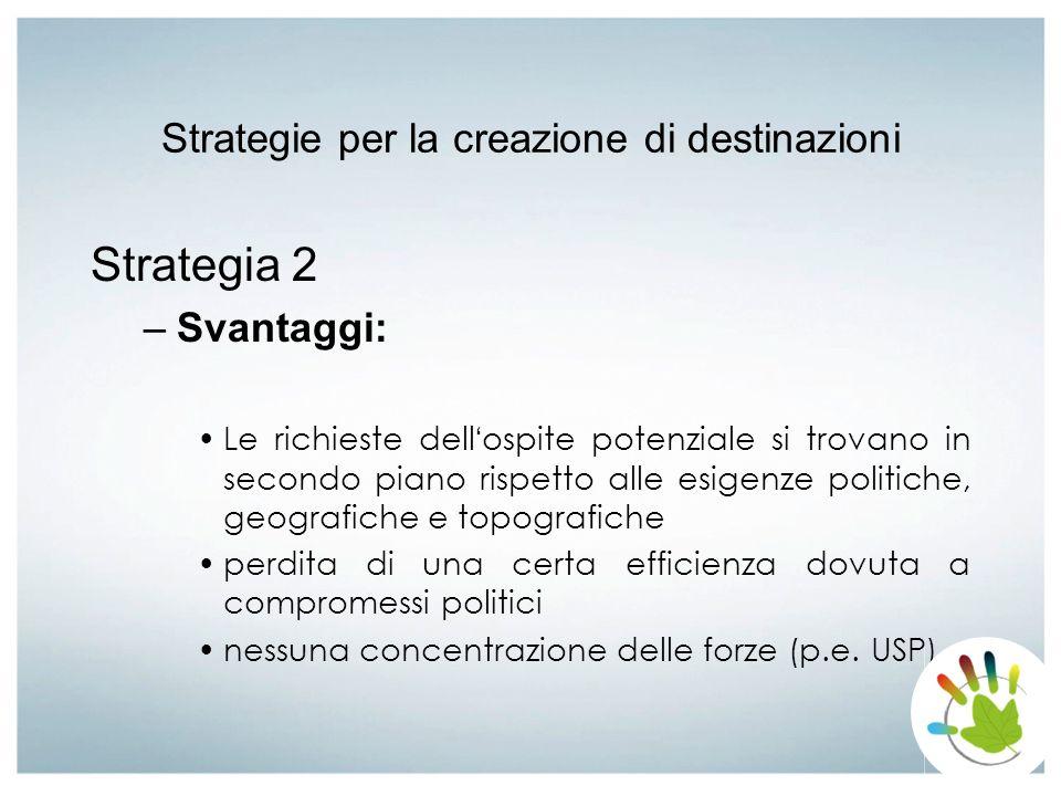 Strategie per la creazione di destinazioni