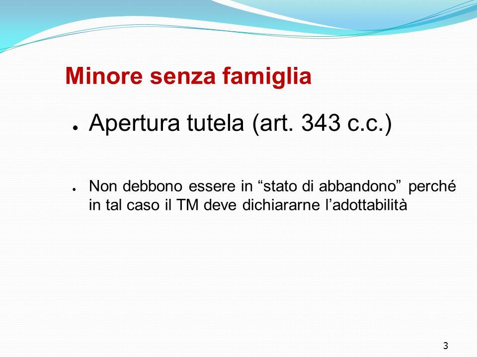 Apertura tutela (art. 343 c.c.)