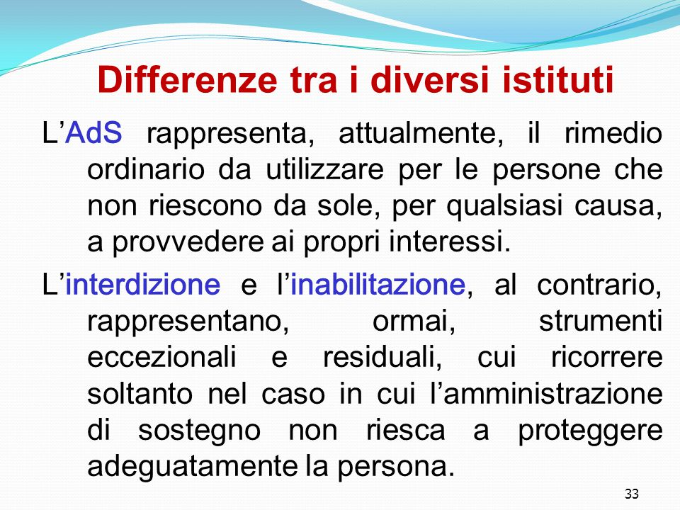 Differenze tra i diversi istituti