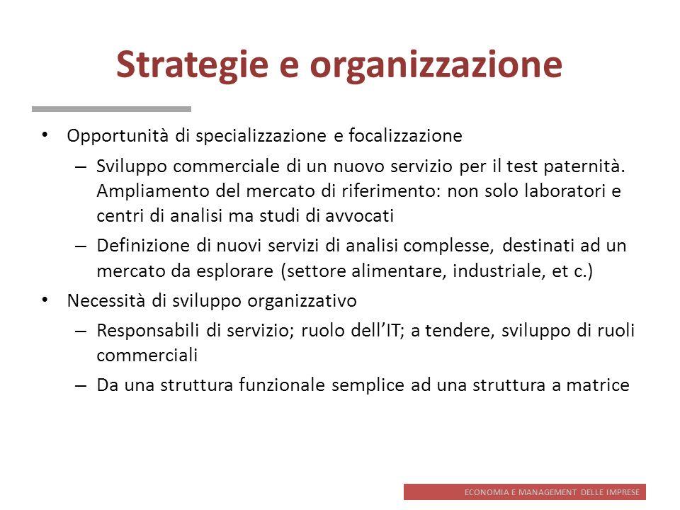 Strategie e organizzazione