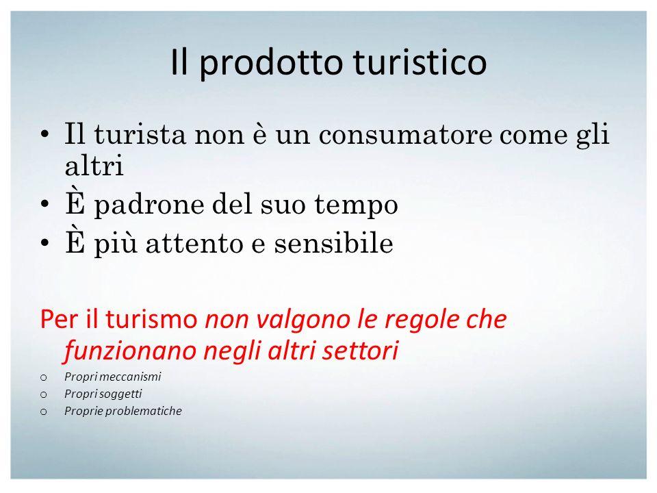 Il prodotto turistico Il turista non è un consumatore come gli altri
