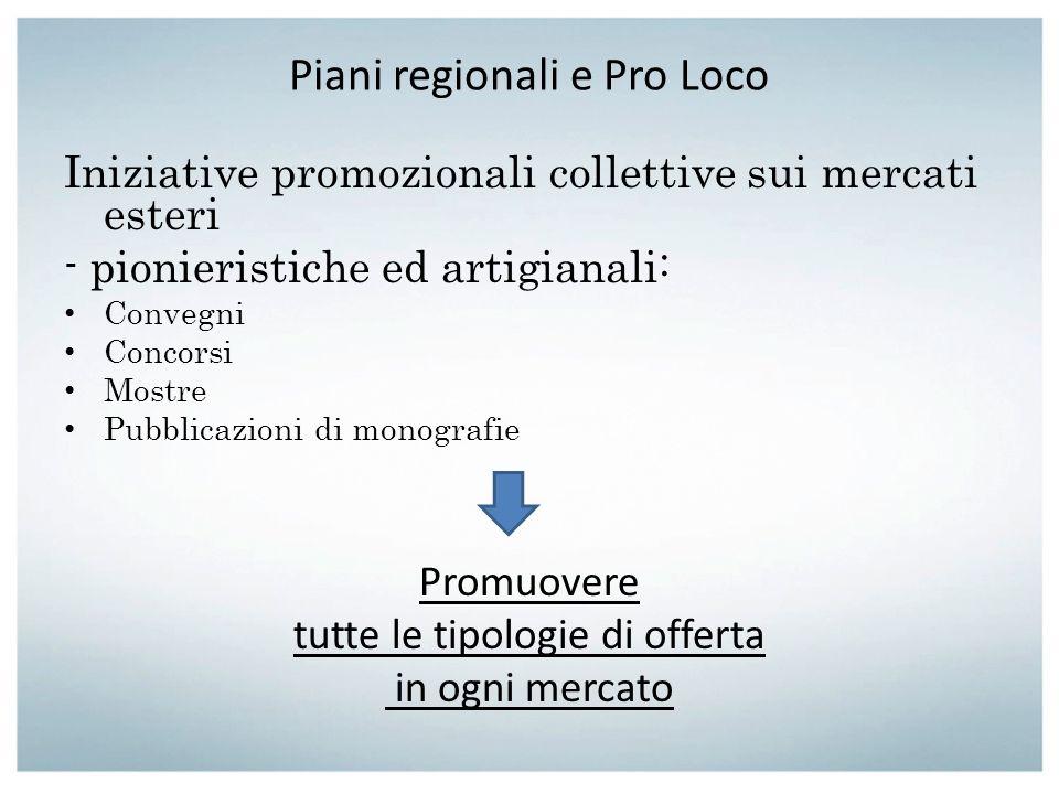 Piani regionali e Pro Loco