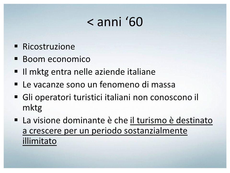 < anni '60 Ricostruzione Boom economico