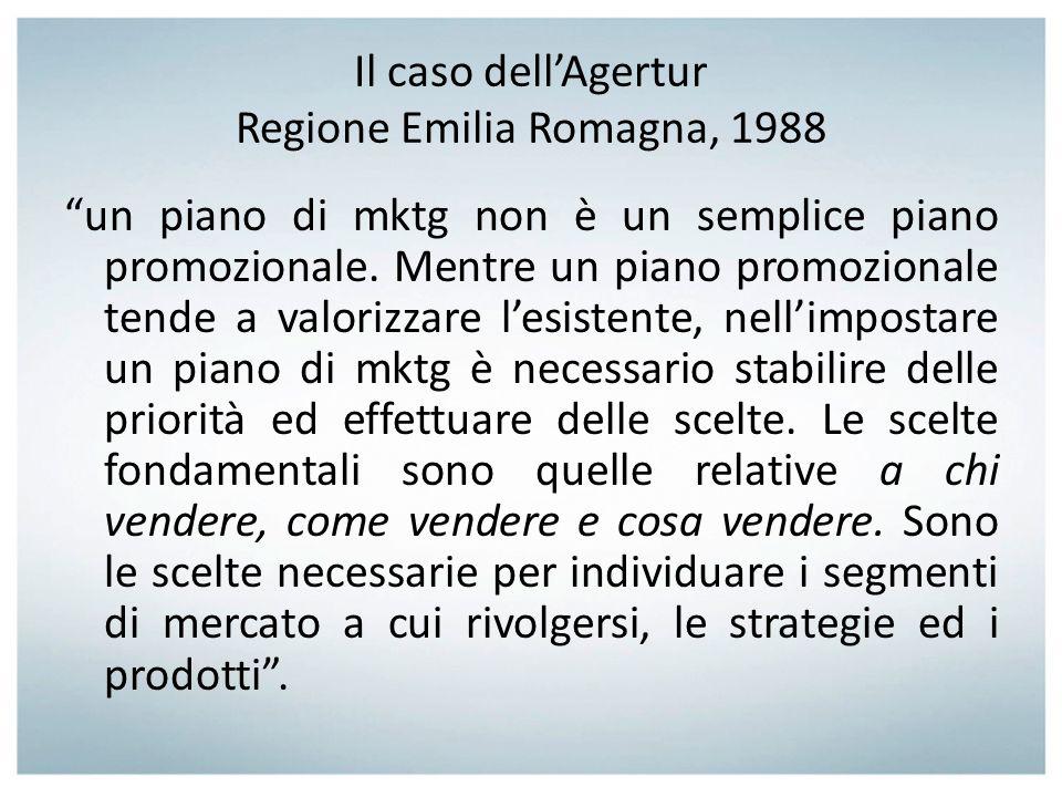 Il caso dell'Agertur Regione Emilia Romagna, 1988