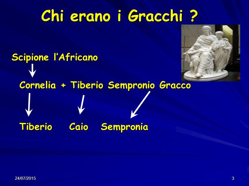 Chi erano i Gracchi Cornelia + Tiberio Sempronio Gracco