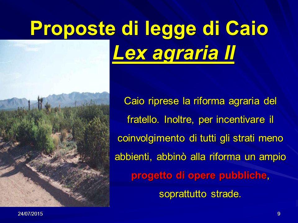 Proposte di legge di Caio