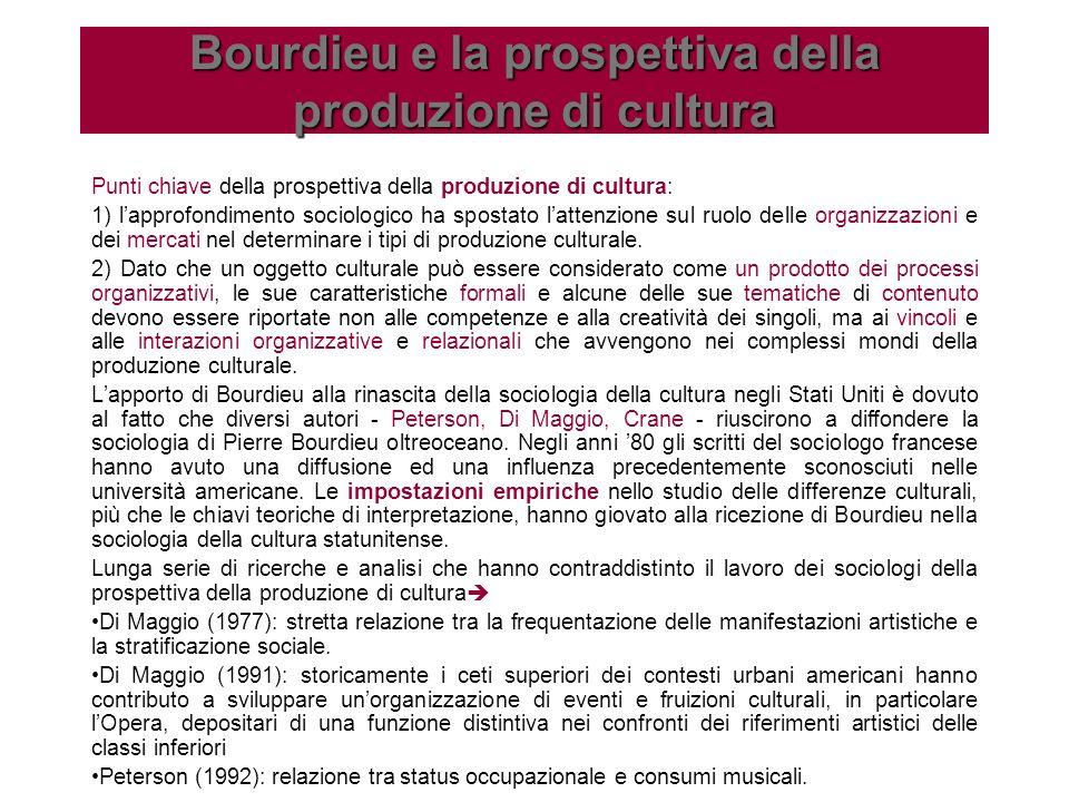 Bourdieu e la prospettiva della produzione di cultura