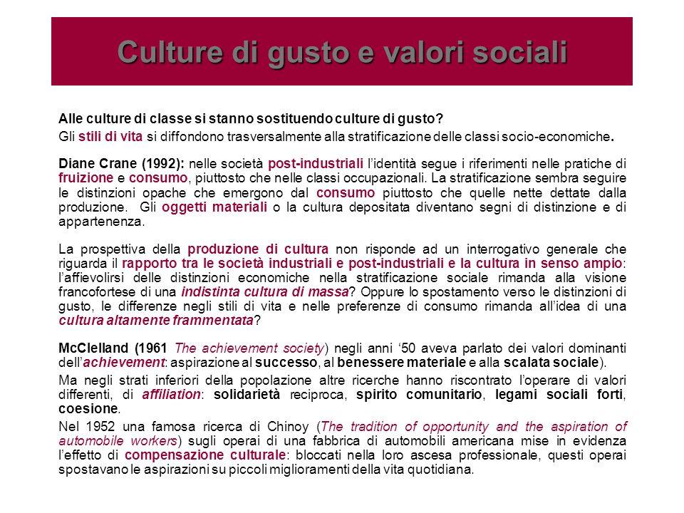 Culture di gusto e valori sociali