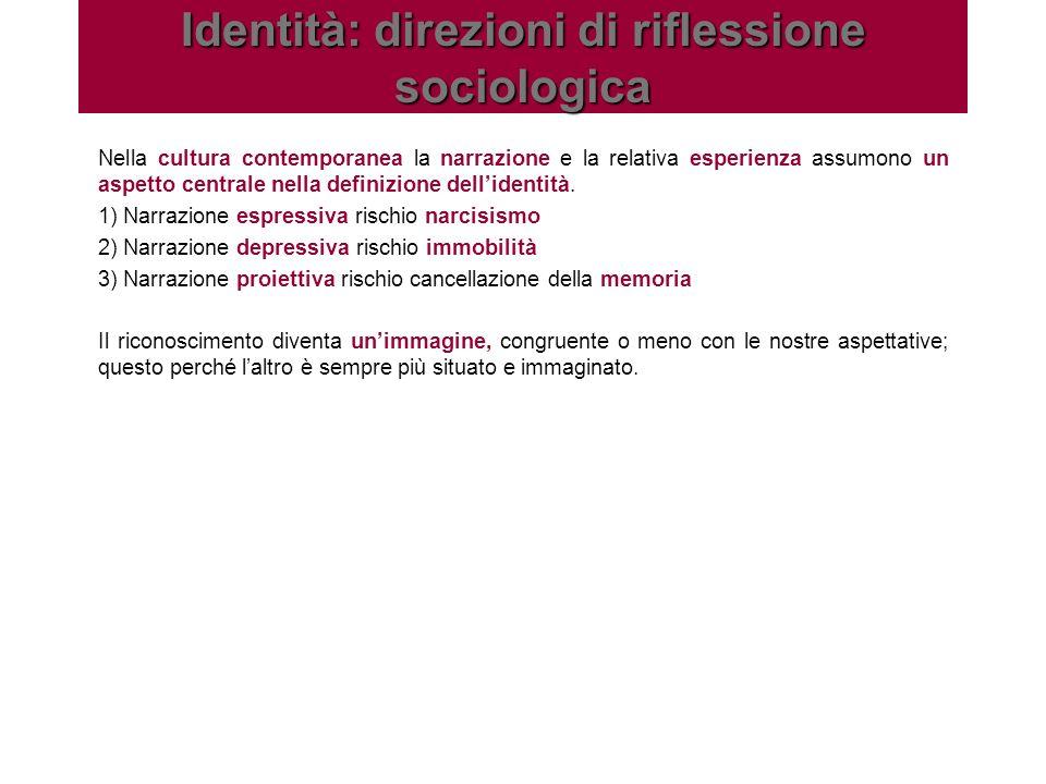 Identità: direzioni di riflessione sociologica
