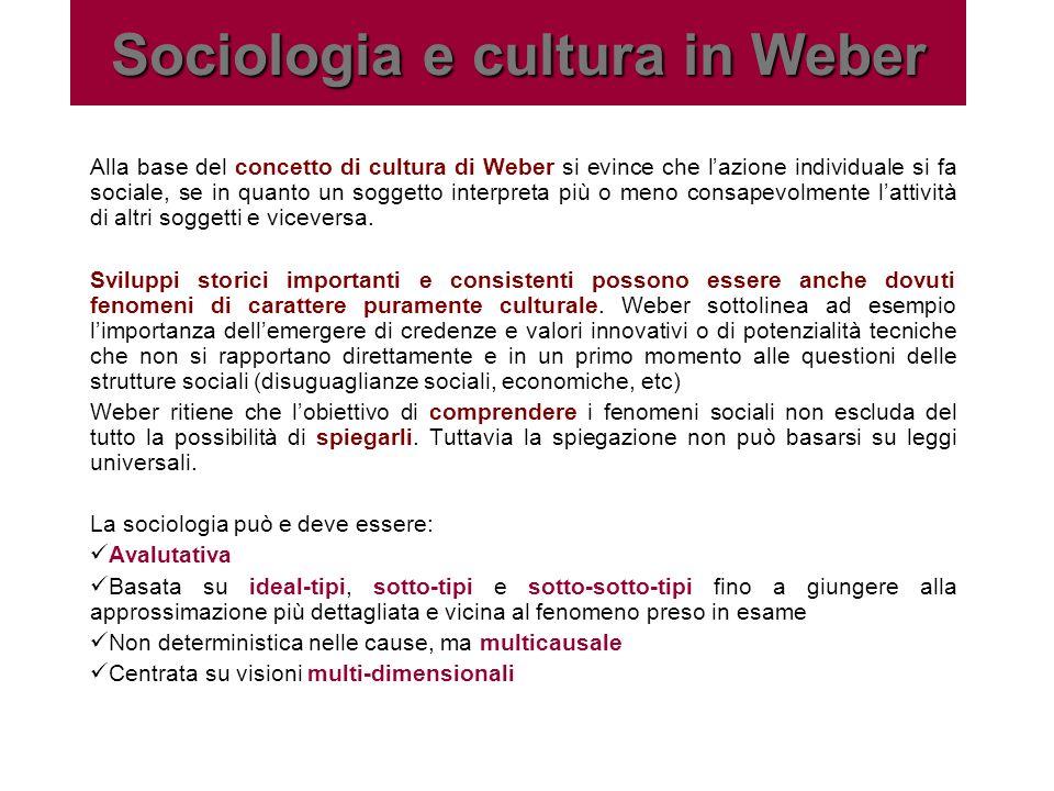 Sociologia e cultura in Weber