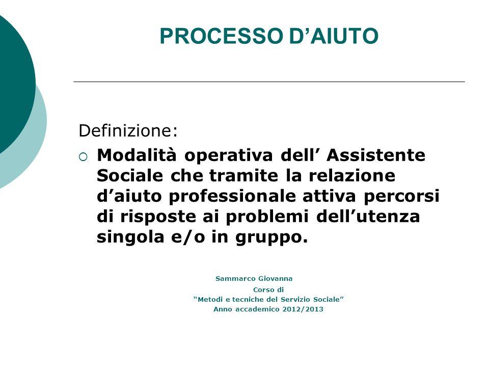 Metodi e tecniche del Servizio Sociale