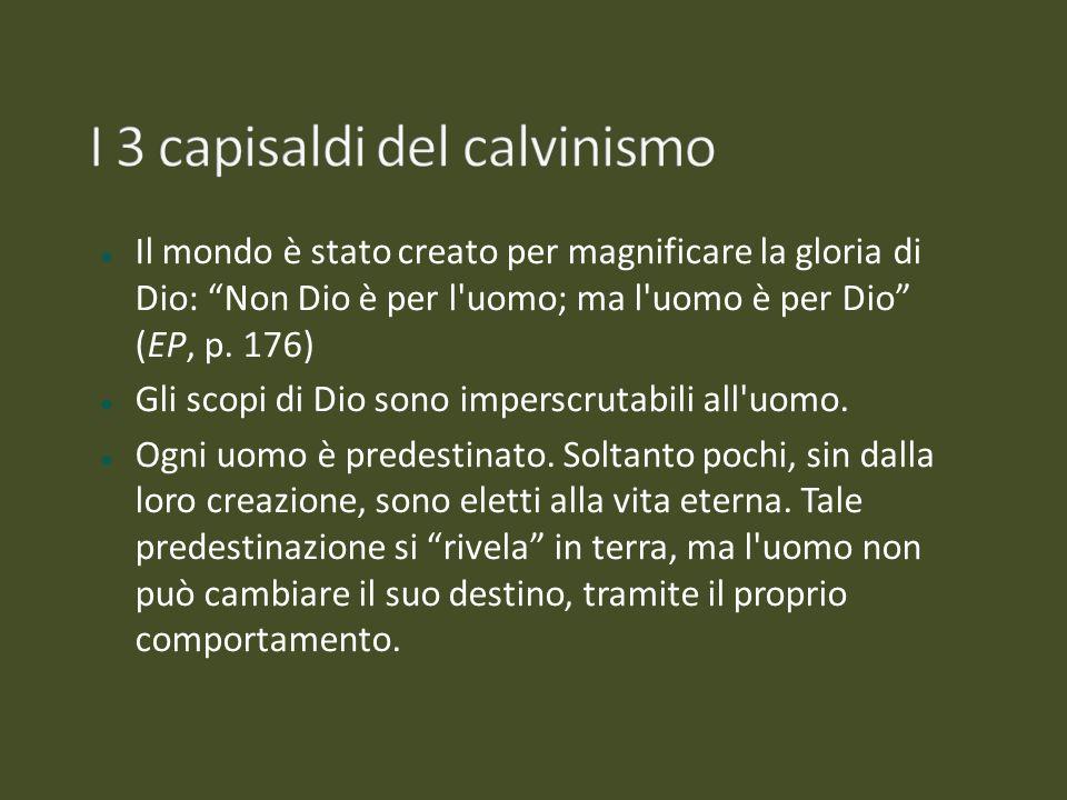 I 3 capisaldi del calvinismo