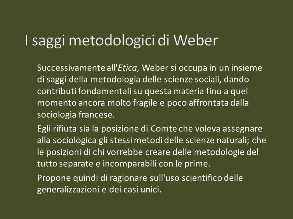 I saggi metodologici di Weber