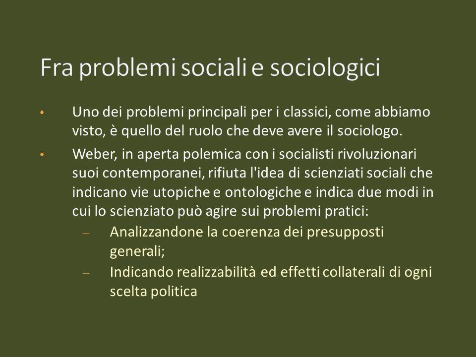 Fra problemi sociali e sociologici