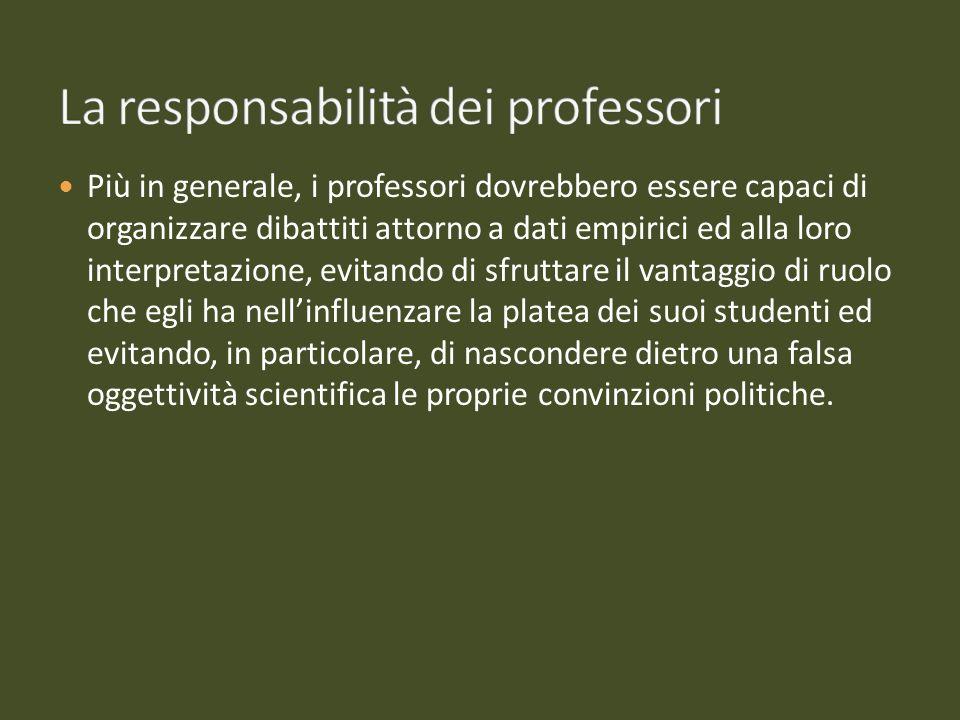 La responsabilità dei professori