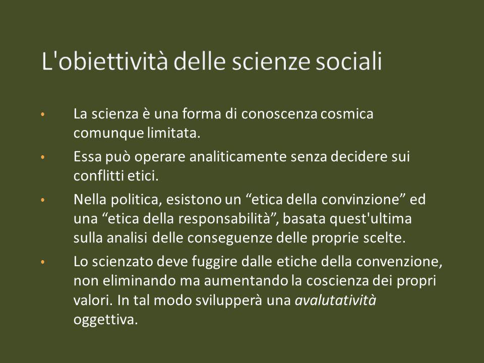 L obiettività delle scienze sociali