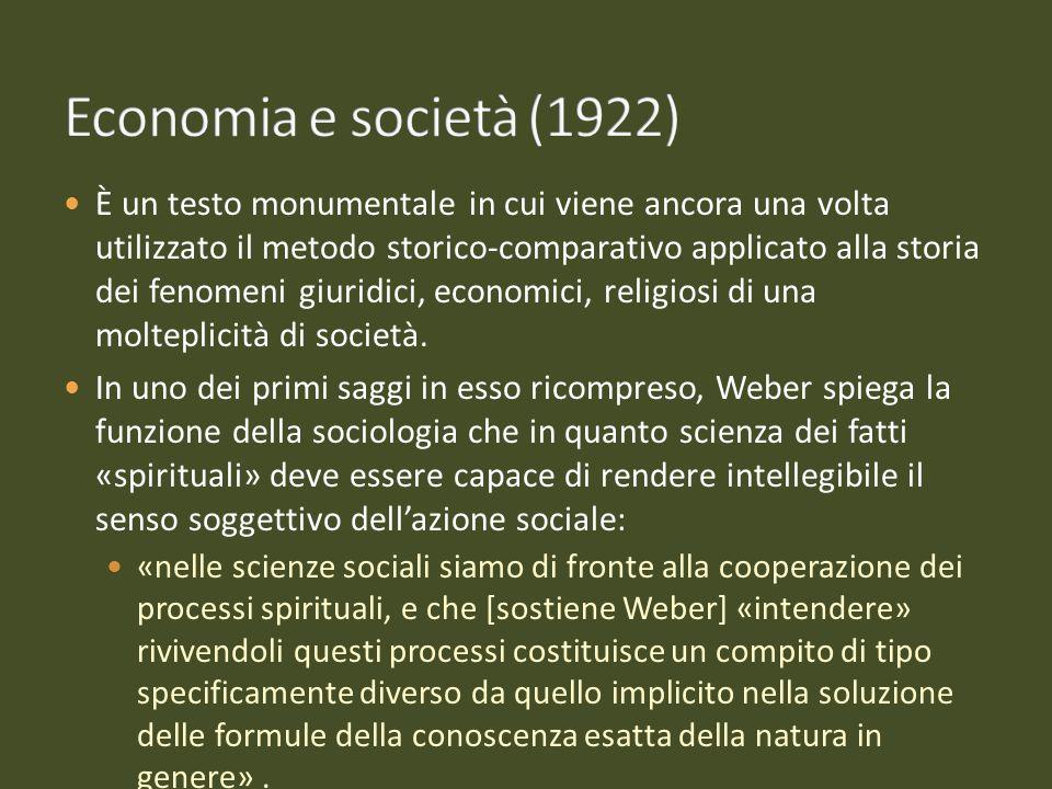 Economia e società (1922)