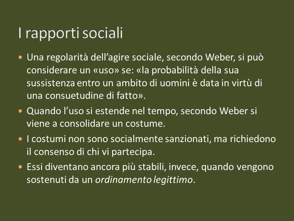I rapporti sociali