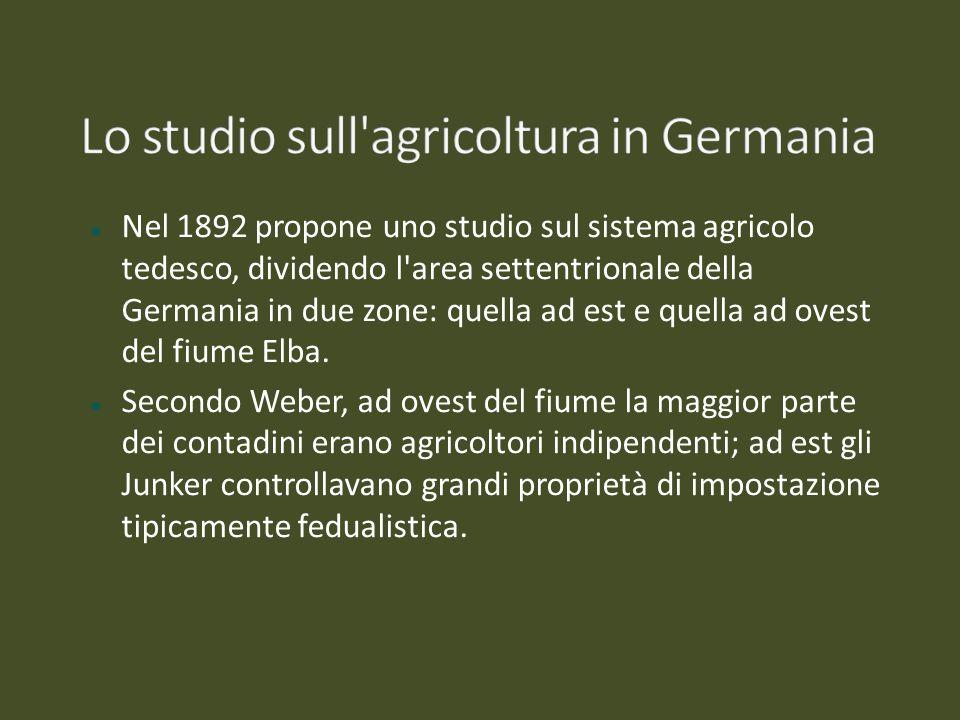 Lo studio sull agricoltura in Germania